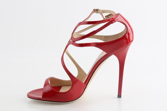 Jimmy Choo Patent Lance red Sandals Image 5