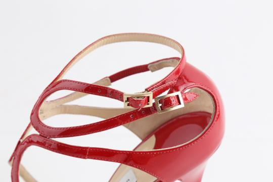 Jimmy Choo Patent Lance red Sandals Image 6