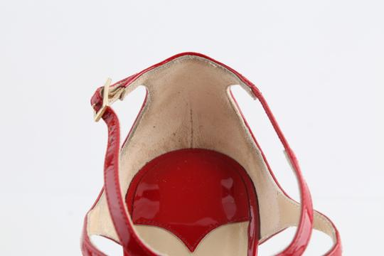 Jimmy Choo Patent Lance red Sandals Image 7