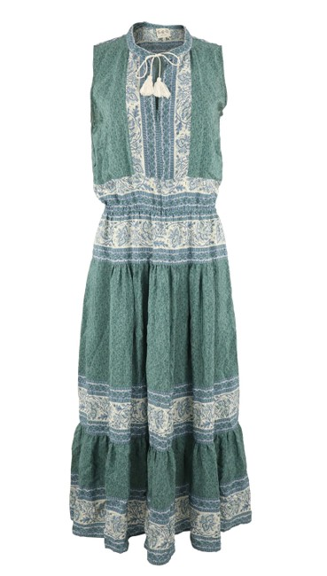 Preload https://img-static.tradesy.com/item/25859689/sea-green-tassel-sleeveless-mid-length-short-casual-dress-size-6-s-0-0-650-650.jpg