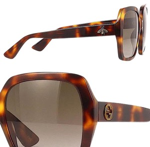 Gucci Brown with Tag Brown/Gold Havana. Square