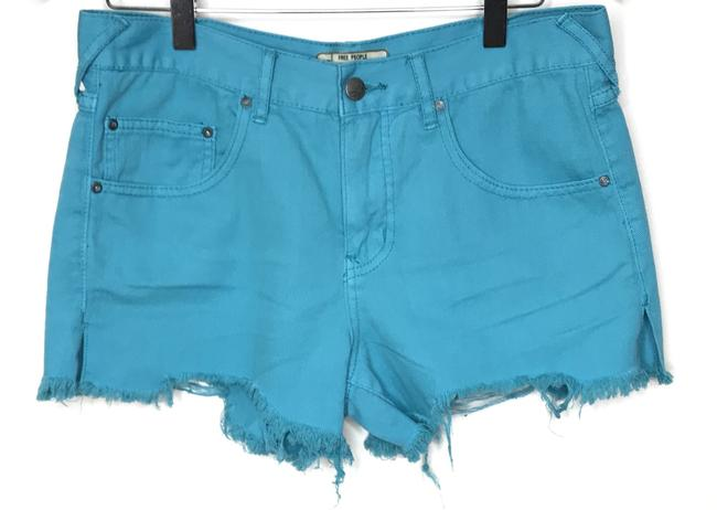 Free People Cut Off Shorts Blue Image 1