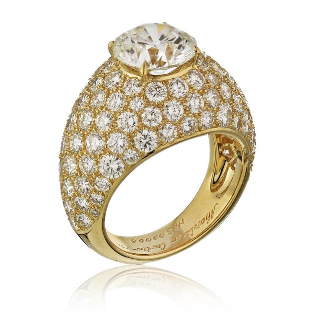 Item - Yellow Gold 3.01ct Round Cut E-vs1 Gia Diamond Engagement Ring