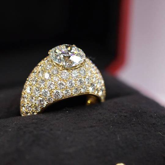 Cartier Yellow Gold 3.01ct Round Cut E-vs1 Gia Diamond Engagement Ring Image 1