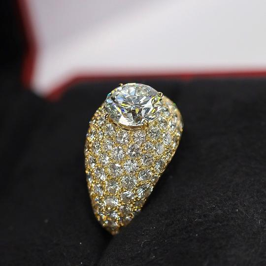 Cartier Yellow Gold 3.01ct Round Cut E-vs1 Gia Diamond Engagement Ring Image 2