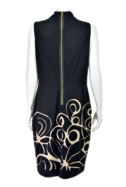 Kay Unger Black Ponte Knit Suit with Cropped Jacket and Sheath Dress Image 5