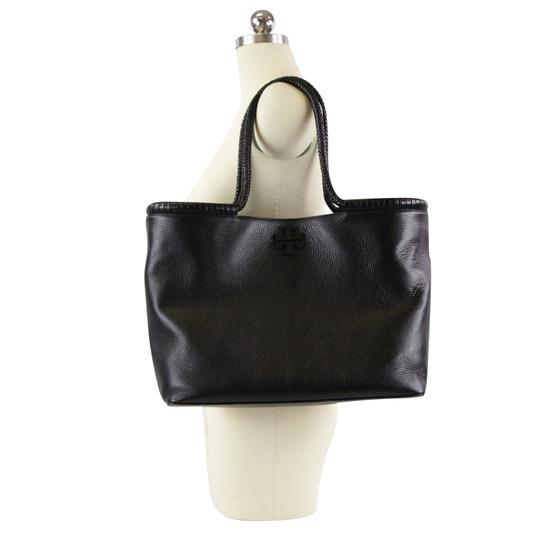 Tory Burch Taylor Braided Tote in Black Image 1