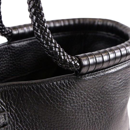 Tory Burch Taylor Braided Tote in Black Image 10