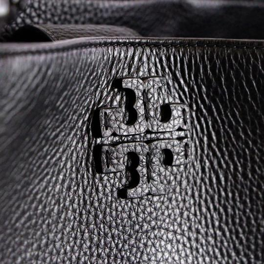 Tory Burch Taylor Braided Tote in Black Image 11