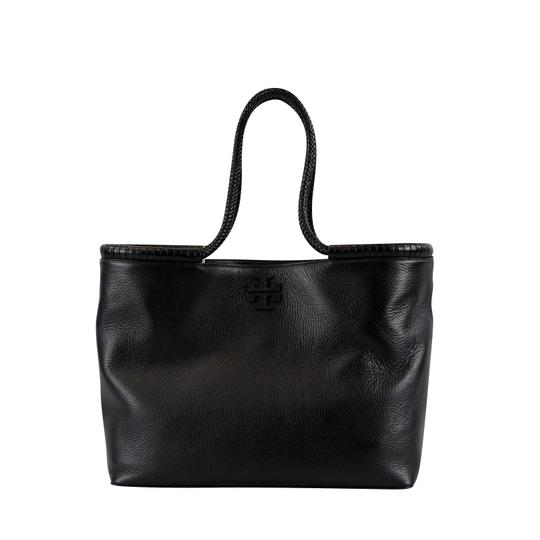 Tory Burch Taylor Braided Tote in Black Image 2