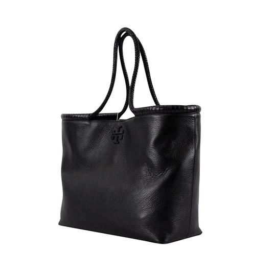 Tory Burch Taylor Braided Tote in Black Image 3