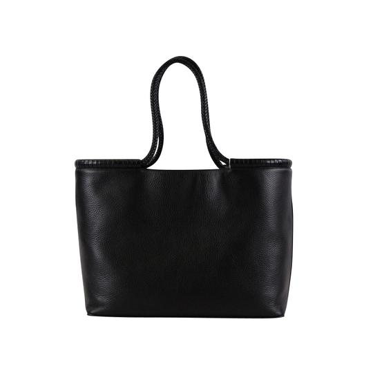 Tory Burch Taylor Braided Tote in Black Image 4