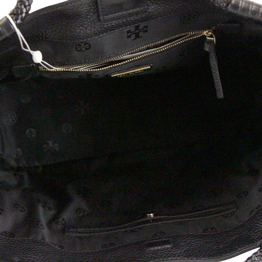 Tory Burch Taylor Braided Tote in Black Image 7