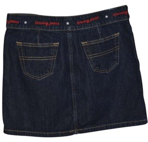 Tommy Hilfiger Actual Size Is 3 Mini Skirt Dark Denim