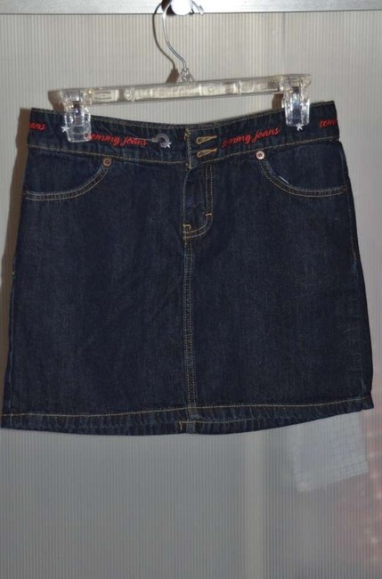 Tommy Hilfiger Actual Size Is 3 Tommy Jeans Denim Mini Never Worn Cute! Mini Skirt Dark Denim