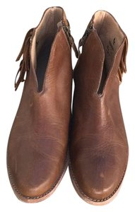 Koolaburra Leather Suede Fringe borwn Boots
