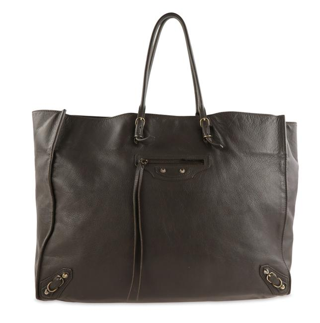 Item - Papier Grey Leather Tote