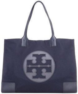 Tory Burch Beach Tote Black Nylon Shoulder Bag