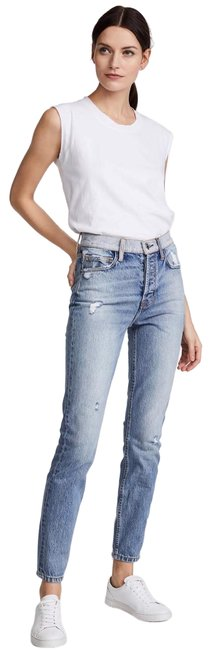Item - Light Blue Distressed The Ultra High Waist Style No: 17-5-001199-pt00837 Skinny Jeans Size 8 (M, 29, 30)