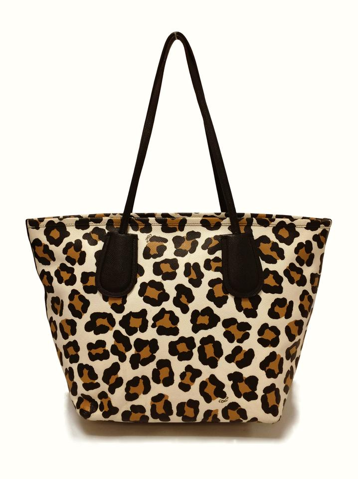Coach Tote Taxi 33969 Print Ocelot Leather Shoulder Bag 15% off retail