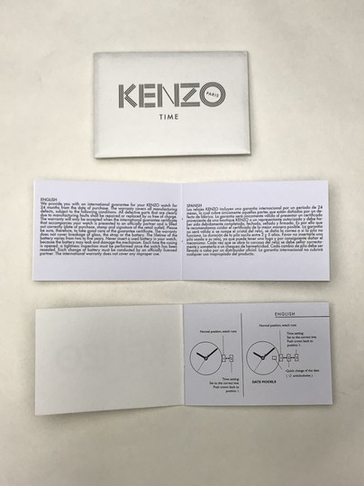 Kenzo Kenzo iridescent watch in original box Image 9