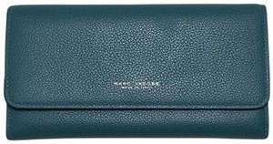 Marc Jacobs Marc Jacobs turquoise leather wallet