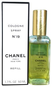 Chanel Chanel Yellow Glass N0 19 Cologne Spray Refill Bottle 1.75 FL OZ SALE!