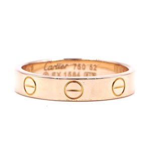 Cartier 18K gold Love wedding band 3.5mm wide ring size 52 6.25