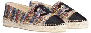 Chanel Black Gold Blue Red Flats