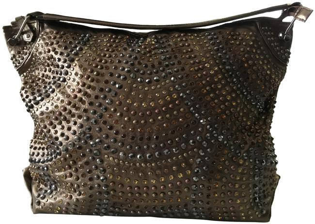 Item - Embellished Gold Metallic with Crystal Tote