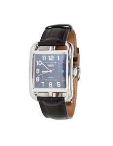 Louis Vuitton Hermes Cape Cod Stainless Steel Automatic TGM Watch w/ Crocodile Band