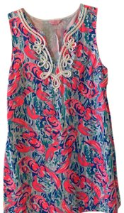 Lilly Pulitzer short dress Pink, Blue and White on Tradesy
