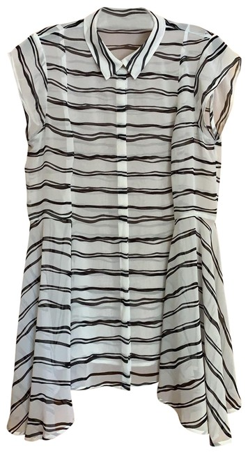 Item - Black and White Striped Blouse Size 8 (M)