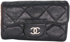 Chanel Quilted Diamond Lambskin Leather Multicles 5 Key Holder