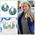 Kendra Scott Kendra Scott Diane Gold Statement Earrings In Abalone Shell