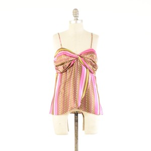 Alice & Trixie Polka Dot Printed Sweetheart Sleeveless Top Pink