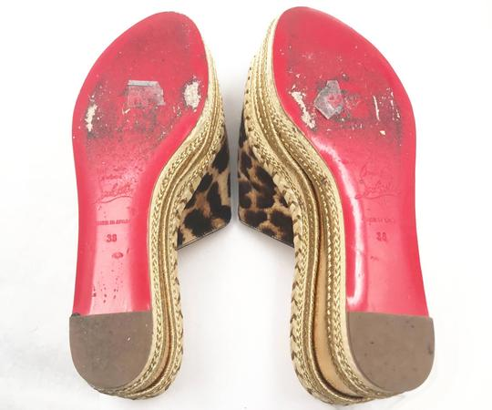 Christian Louboutin brown, gold, red Mules Image 4