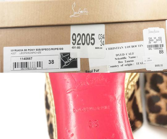Christian Louboutin brown, gold, red Mules Image 5