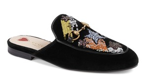 Gucci Princetown Loafer Mule Slide black Flats