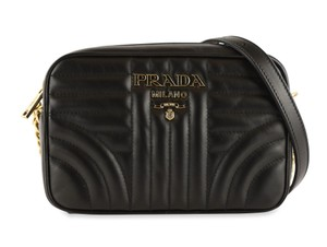 Prada Chain Gold Hardware Quilted Cross Body Bag