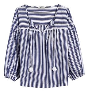 Madewell Top blue and white