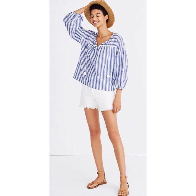 Madewell Top blue and white Image 1