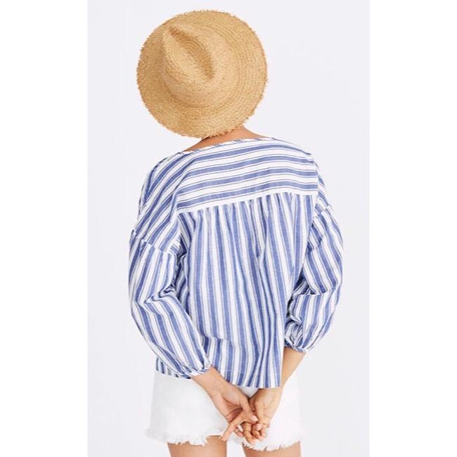Madewell Top blue and white Image 2