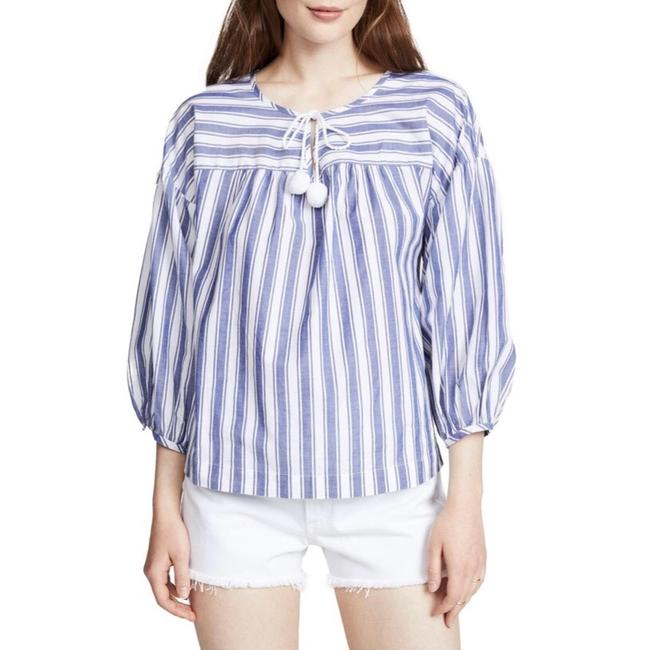 Madewell Top blue and white Image 3
