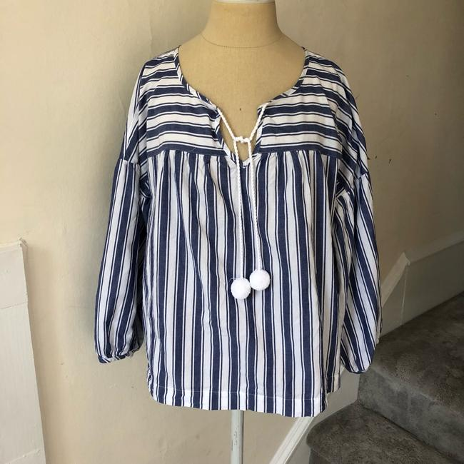 Madewell Top blue and white Image 4