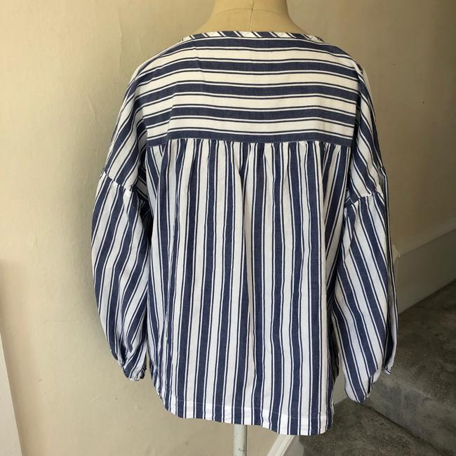 Madewell Top blue and white Image 6