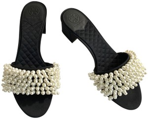 Tory Burch Tatiana Mule Pearl Slide Sold Out Black, White Sandals