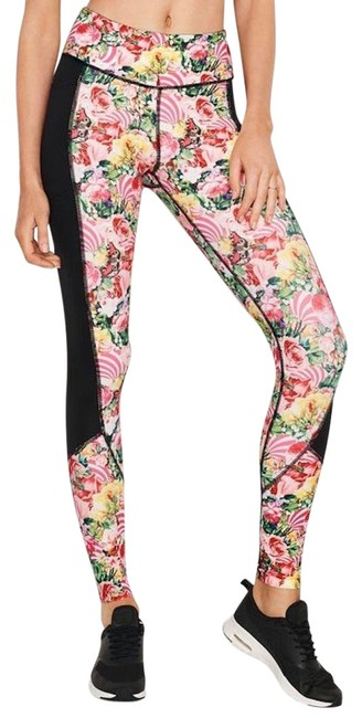 Item - Mary Katrantzou Rose Floral Garden Party Total Knockout Tights Activewear Bottoms Size 12 (L, 32, 33)