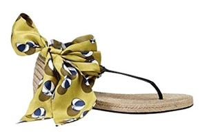 Gucci green, yellow, navy Sandals