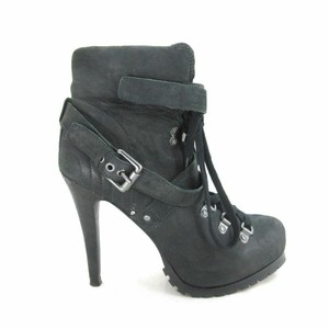 ASH Womens Laced Extra High black Pumps